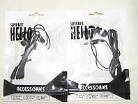 Наушники Вакуумные HL-2 черные в упаковке, фото 1