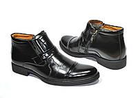 Мужские ботинки зимние кожаные Польша 1005 черные