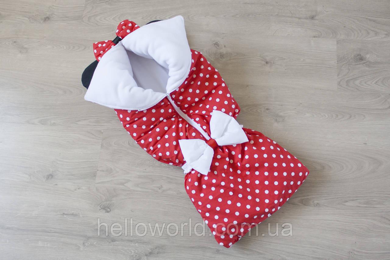 "Конверт-одеяло на молнии ""Минни Маус"" флис"