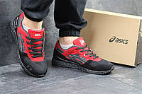 Кроссовки мужские asics Gel Lyte III, черно - красные, материал - натуральная замша, подошва - пенка