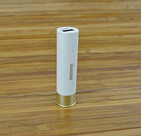 Внешний аккумулятор Повербанк,  Power Bank REMAX SHELL Патрон 2500 MAHБелый