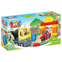 """Конструктор с большими деталями JDLT (LEGO Duplo) """"Мой город"""" 25 деталей, 5105"""