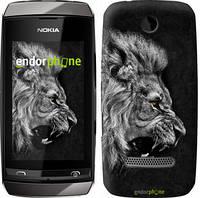 "Чехол на Nokia Asha 305 / 306 Лев ""1080u-248-8094"""