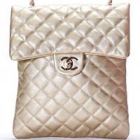 Женская сумка CHANEL  золотого цвета