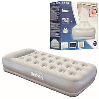 Велюр кровать Bestway 67455, 191-97-38 см,встроен насос 220 V, фото 1