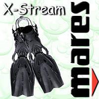 Ласты для водного спорта X-STREAM p.R (черные)