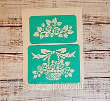 Квіти №2 Трафарет багаторазовий на клейовій основі