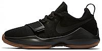 Баскетбольные кроссовки Nike PG1 Black/Gum (Найк) черные