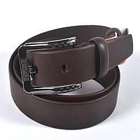 Мужской кожаный ремень известного бренда GUCCI (коричневый)