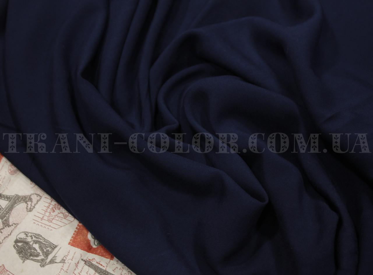 Ткань штапель темно-синий