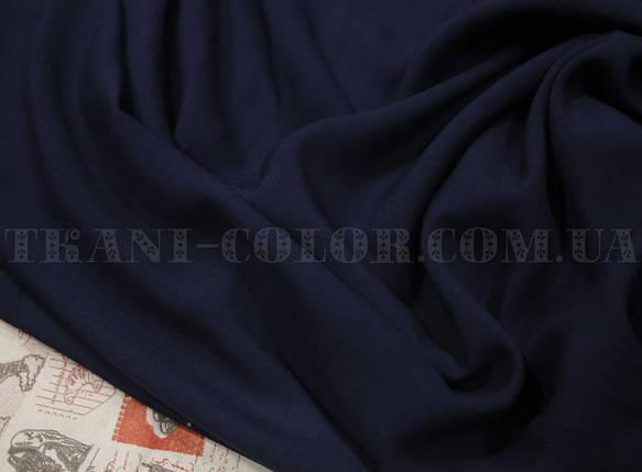 Ткань штапель темно-синий, фото 2