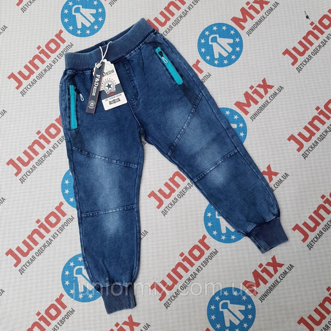 Детские джинсовые  брюки для мальчиков оптом F&D