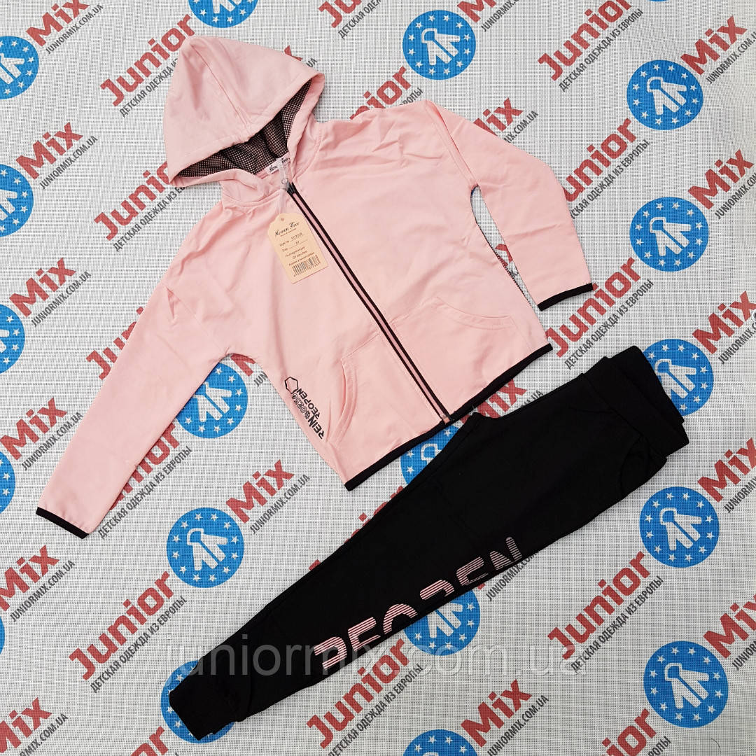 Подростковый трикотажный спортивный  костюм для девочек оптом F&D, фото 1