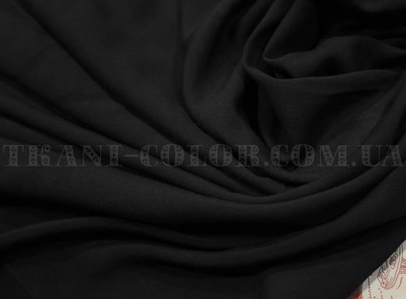 Ткань штапель черный, фото 2