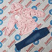 Детский  весенний комплект для девочек ветровка и брюки оптом F&D
