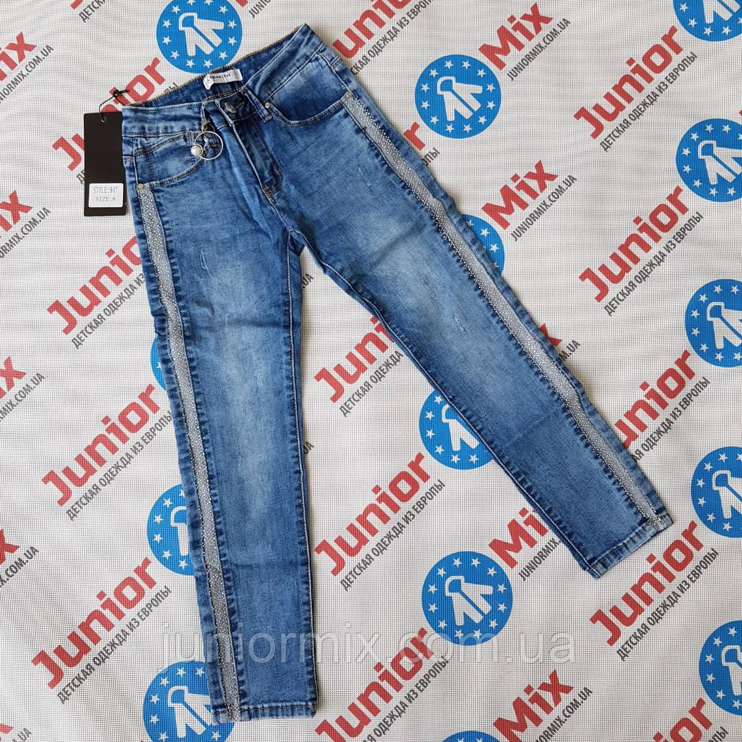 Подростковые джинсы с лампасами для деврчек  оптом Lemon Tree