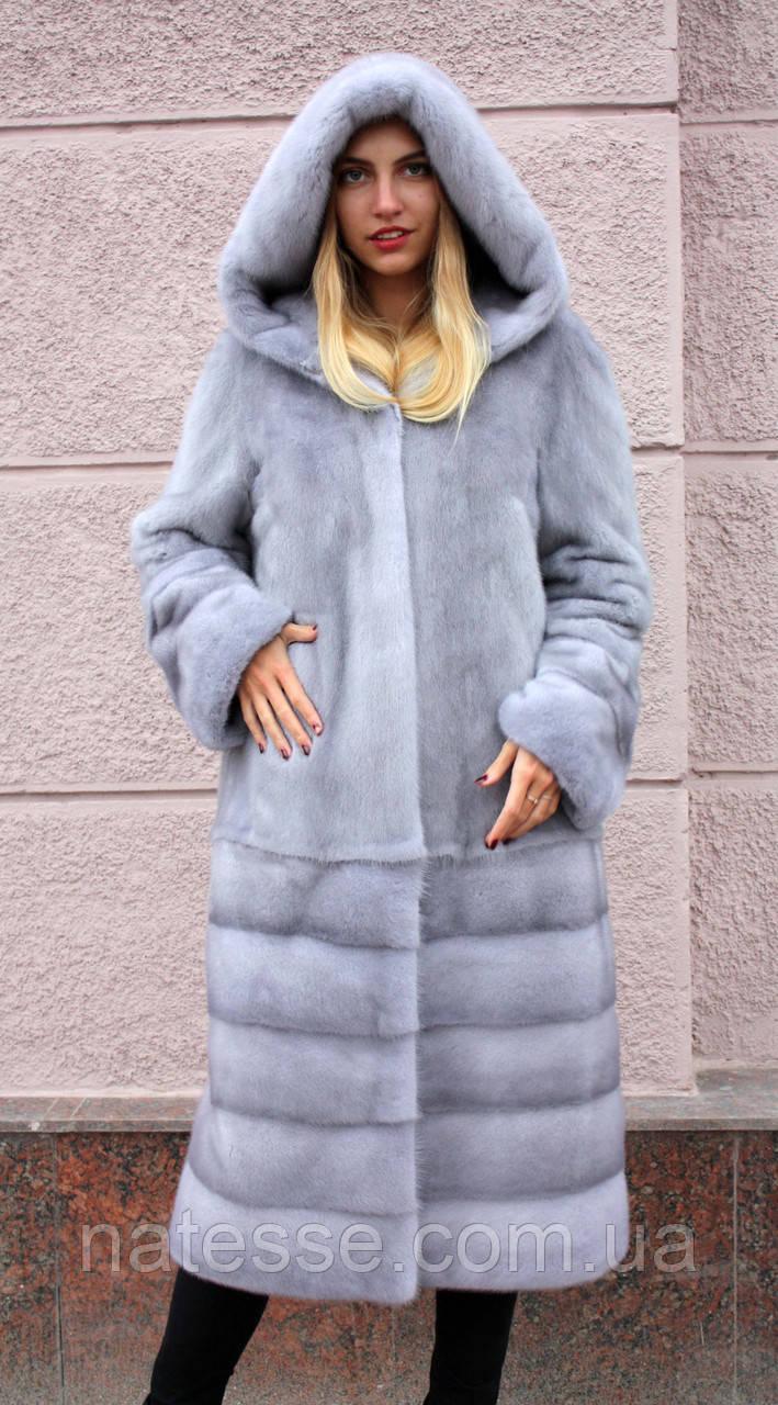 """Норкова шуба з капюшоном """"Сапфір"""" Nafa mink furcoat jacket"""