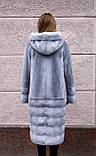 """Норкова шуба з капюшоном """"Сапфір"""" Nafa mink furcoat jacket, фото 3"""
