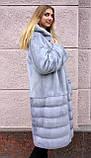 """Норкова шуба з капюшоном """"Сапфір"""" Nafa mink furcoat jacket, фото 4"""