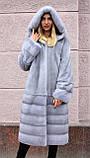 """Норкова шуба з капюшоном """"Сапфір"""" Nafa mink furcoat jacket, фото 6"""