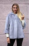 """Норкова шуба з капюшоном """"Сапфір"""" Nafa mink furcoat jacket, фото 7"""