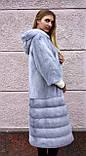 """Норкова шуба з капюшоном """"Сапфір"""" Nafa mink furcoat jacket, фото 8"""