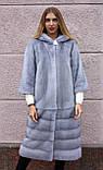 """Норкова шуба з капюшоном """"Сапфір"""" Nafa mink furcoat jacket, фото 2"""