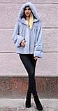 """Норкова шуба з капюшоном """"Сапфір"""" Nafa mink furcoat jacket, фото 9"""