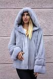 """Норкова шуба з капюшоном """"Сапфір"""" Nafa mink furcoat jacket, фото 10"""