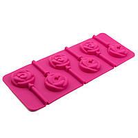 Форма для конфет на палочке Розочки 6 шт
