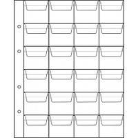Лист для монет 200х250мм на 24 клітинок (44х40мм)