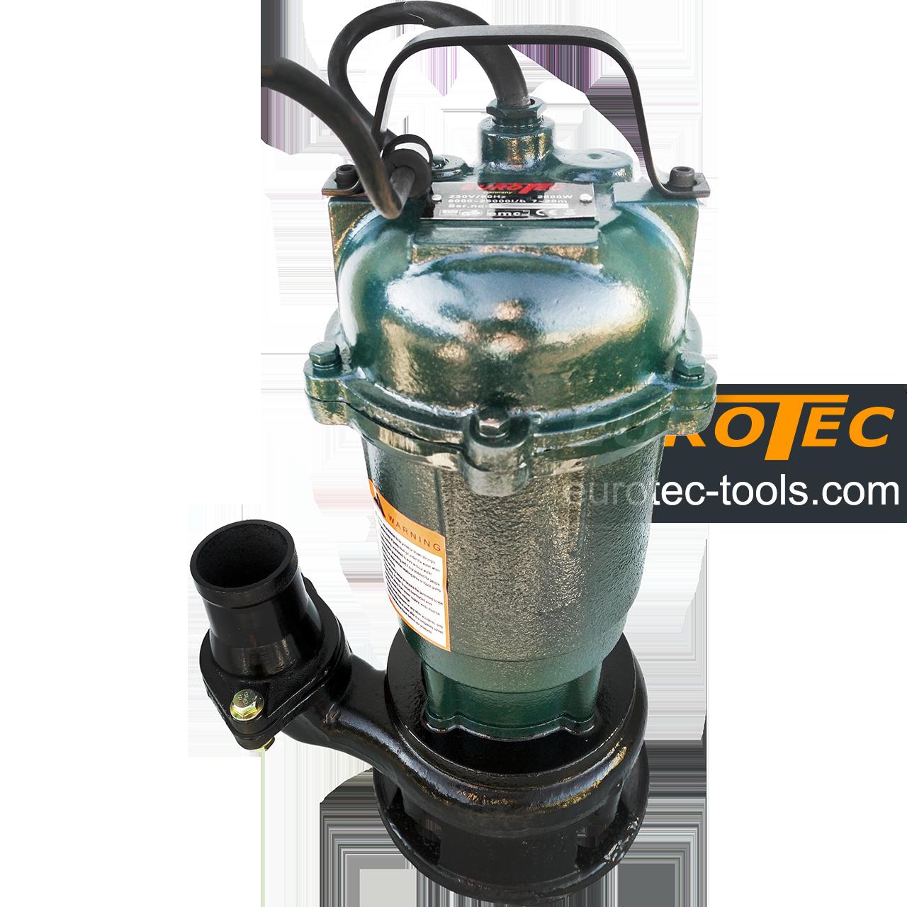 Насос дренажный для выгребных ям Eurotec PU 205, 40-75 мм, чугунный для грязной воды, фекальный выгребной