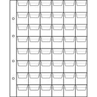 Лист для монет 200х250мм на 48 комірок (28х30мм)