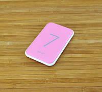 Аккумулятор для телефона павербанк,  Power BankGOLFG-25 РОЗОВЫЙ 7000 mAh