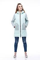 Комбинированная  модная куртка Эрика мята, фото 1