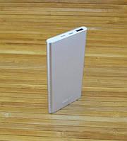 Внешний аккумулятор Повербанк,  Power Bank GOLF EDJE-5 СТАЛЬНОЙ 5000 mAh