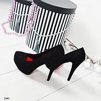 Туфли женские  на скрытой платформе.
