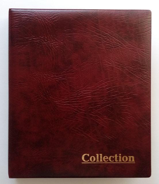 Альбом для монет (225х265х40мм) без листов, бордо