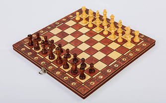 Шахматы, шашки, нарды магнитные деревянные 34 см