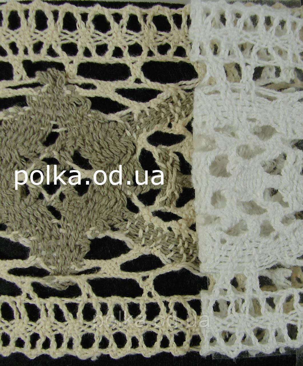 Вязаное кружево -ширина 8.5см,цвет белый(1уп-45м)