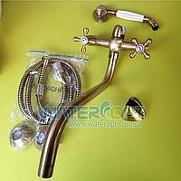 Смеситель для ванны цвет бронза Mixxen РОМА MXAL0357, фото 1