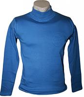 Водолазка подростковая с начесом 140-158 см, синяя