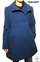 Женское теплое пальто шерстяное Old Navy синее р. S 40/42