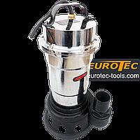Насос выгребной нержавейка фекальный дренажный 40-75 мм, Eurotec PU 208 для грязной воды, хромоникелевая сталь