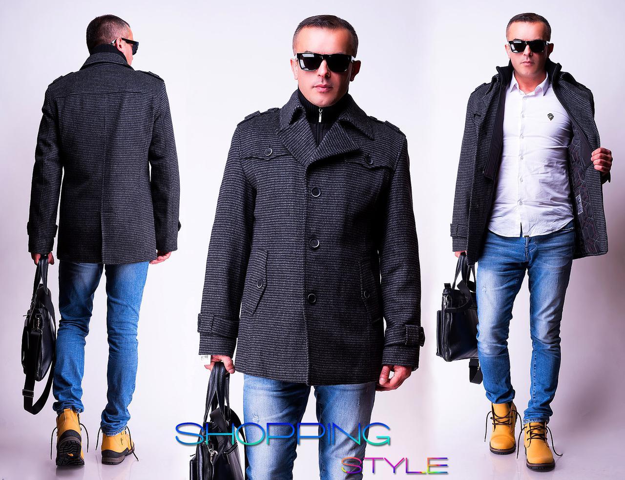 Класичне пальто Ентоні 44-56 р( драп) євро зима