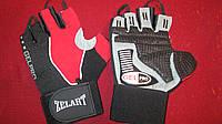 Перчатки спортивные тяжелоатлетические PVC ZEL ZB-6166 с напульсником (р-р M-XL)