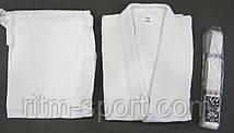 Кимоно для дзюдо белое (рост от 120 см до 200 см, плотность 450 г/м2), фото 2