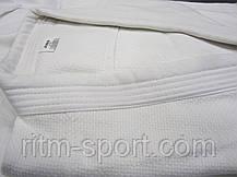 Кимоно для дзюдо белое (рост от 120 см до 200 см, плотность 450 г/м2), фото 3