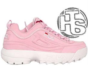 Женские кроссовки реплика Fila Disruptor II 2 Suede Pink