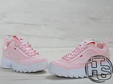 Женские кроссовки Fila Disruptor II 2 Suede Pink, фото 3